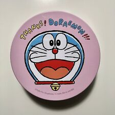 Doraemon Sanrio 3 Coins Note in Pink Tin Can Japan