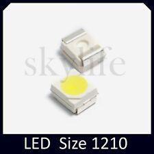 10pz LED SMD BIANCO FREDDO 1210 (PLCC-2 3528) Diodi ALTA LUMINOSITA' 2500mcd