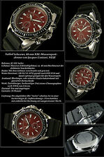 "Jacques Cantani ""Sailor"" submarinista señores chronograph reloj, acero inoxidable, 10 bar, rojo"
