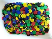 100 Counters,15 mm diameter,Numeracy/Board Games,Used,five colours (20 of each)