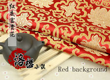 Chinese Han costume Jacquard Silk Kimono Brocade Fabric Rich Flowers Thick Style