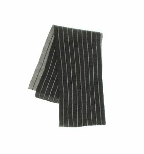 Chaps Unisex Reversible Pinstriped Knit Scarf Gray One Size