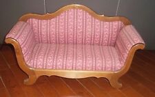 "DIORAMA DOLL FURNITURE SOFA WOOD & UPHOLOSTERED 1:4 SCALE 21""x 10"""