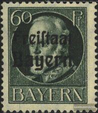 Bayern 162A postfrisch 1919 König Ludwig mit Aufdruck