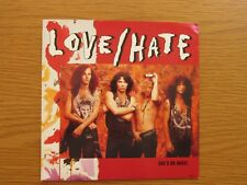 "LOVE HATE She's An Angel 1990 UK 7"" VINYL SINGLE IN PICTURE SLEEVE HEAVY METAL"