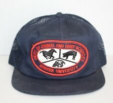 Vintage AUBURN UNIVERSITY DEPT ANIMAL DAIRY SCIENCES VET SCHOOL K PRODUCTS HAT