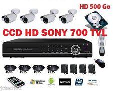 Kit de vidéo surveillance, enregistreur IP 500Go + 4 caméras tube HD int/ex