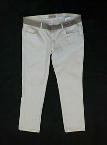 Liu Jo Womens Chino Pants White Trousers Size 31 Straight Leg Designer Sparkly