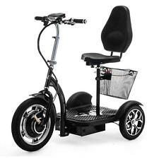 Scooter électrique 3 roues Mobylette Trike avec panier Noir VELECO ZT16