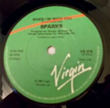 """SPARKS - WHEN I'M WITH YOU. /EX. 7"""" SINGLE 1980."""