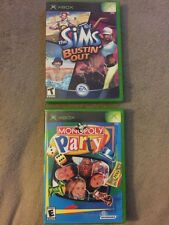 Xbox Lot Monopoly Party & Sims Bustin' Out Complete Tested Ships Fast!