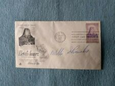Vtg Willie Shoemaker Autograph Signed 1st Day Issue 1956 Devil's Tower WY Stamp