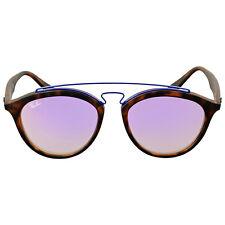 Ray Ban Round Lilac Gradient Mirror Sunglasses