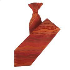 Graduated Burnt Orange Wavy Design Clip-On Tie