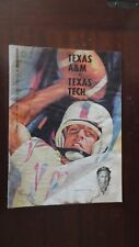 Texas A&M vs Texas Tech football program Oct. 7,1961 Viceroy& piggly wiggly ads