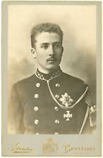 Gunther, Bruxelles, le prince Beaudoin Vintage silver print.Baudouin de Belgiq