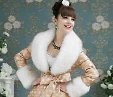 Fantastic Faux Fur Wrap. White or Grey Stole Shawl FREE DELIVERY
