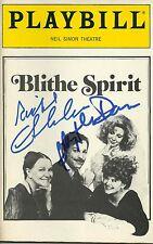 Blithe Spirit signed Playbill blythe danner richard chamberlain