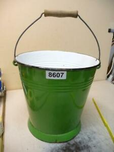 8607. Alter Emaille Email Eimer old email bucket