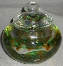 Studio Art Glass KERRY ZIMMERMAN - PAPERWEIGHT COVERED BOWL Dated/Signed
