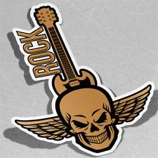 Rock Skull Guitar Band Metal Gothique Vinyle Sticker Décalque Window Car Van Bike 3075