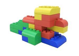 Kids Jumbo Soft Building Blocks 24 Piece Toy Set New