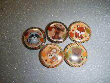 "Woodland Forest Animals 1"" Craft Circles Flat-back Button Embellishments"