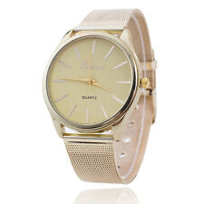 UK Fashion GENEVA Women Ladies Watch Crystal Stainless Steel Wrist Watch Formal