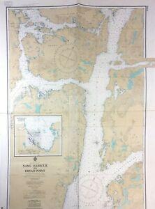 Vtg BRITISH COLUMBIA NAUTICAL CHART Bella Bella SHEARWATER Fishing Canada MAP