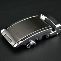 New Men Fashion Business Casual Style Automatic Lock Buckle Ratchet Belt Buckle