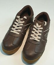 Deltaplus Mens Work Shoes Trainers Steel Toe Lace Up Brown UK9 EU43