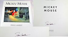 Mickey Mouse by Pierre Lambert SIGNED AUTOGRAPHED Large Disney HBDJ Book