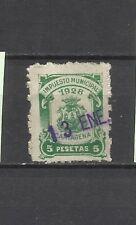 1908-SELLO FISCAL CARTAGENA MURCIA IMPUESTO 1928 5 PTS