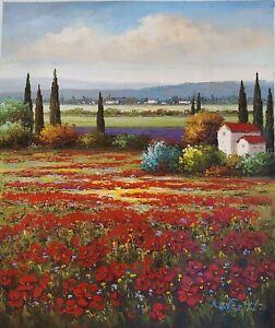 """""""Montana Landscape"""" Original Hand Painted 20""""x24"""" Oil Painting Landscape Art"""