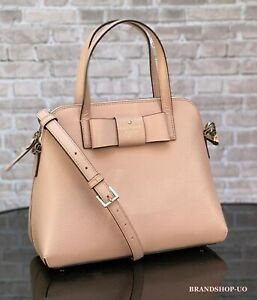 KATE SPADE MAISE LEATHER SATCHEL CROSSBODY SHOULDER BAG PURSE $328 Rosycheecks