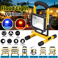 100W Rechargeable LED Work Site Flood Spot Light Cordless Work Camping  □□□