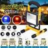 100W Rechargeable LED Work Site Flood Spot Light Cordless Work Camping Lamp
