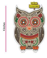 Sugar Skull Day of the Dead OWL Animal  EL Corazon Decal Sticker DOD24
