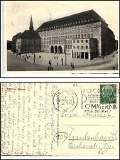 BOCHUM 1956 Strassenpartie Theater AK nach Frankenberg Bedarfspost gelaufen