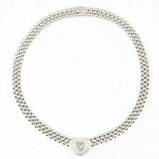 Chopard Happy Diamond 18K White Gold Heart Necklace Original Box Included
