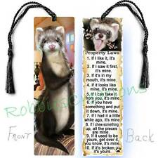 Ferret Large Book Bookmark Tassel Fun Pet Rules Property Artbook Card-Not Toy