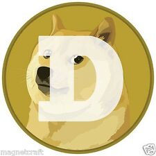 One Combo set of Bit coin +Dog coin Fridge Magnet