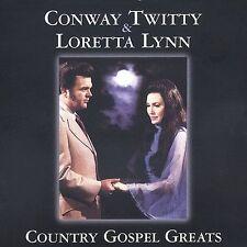"""CONWAY TWITTY & LORETTA LYNN,CD """"COUNTRY GOSPEL GREATS"""" NEW SEALED"""