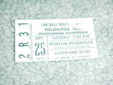 1973 Chicago Bulls v Philadelphia 76ers Preseason Basketball Ticket Illinois St