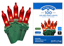 HOLIDAY TIME 100-CT RED LED MINI LIGHTS WITH GREEN WIRE > VALENTINES / SEASONAL