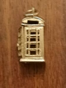 9ct Gold Opening Telephone Box Charm
