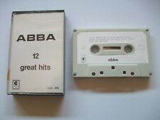 ABBA 12 Great Hits. RARE UK  Cassette Tape Album Continental Records CUK 416  EX