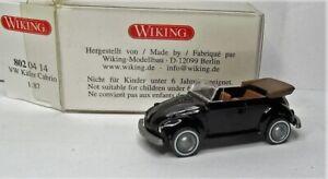 Wiking 1:87 VW 1302 LS Cabriolet Käfer OVP 802 04 schwarz