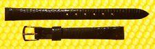 9.5mm Vintage OMEGA Real-Lizard Leather Watch Strap Band BLACK <NWoT>
