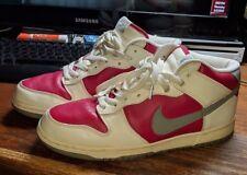 Vintage 2004 Nike Dunks Red And White Dunk Mids Nike Size 10 NO BOX Retro Nikes.